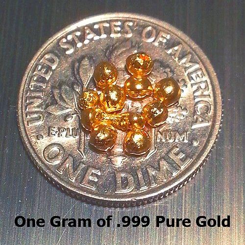 1 Gm Gold Shot For Fuming 24k 9999